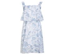 Kleid mit Volants und Lochstickerei