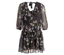 Kleid - schwarz/ rosa/ hellblau