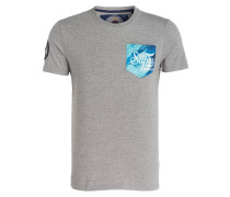 T-Shirt SUPER 77 - hellgrau meliert