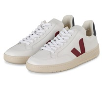 Sneaker V-12 - WEISS/ DUNKELROT