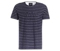 T-Shirt ANTAL - dunkelblau/ grau gestreift