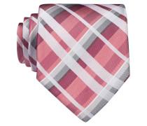 Krawatte - himbeere/ weiss