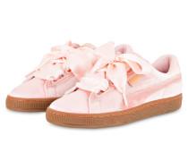 Samt-Sneaker BASKET HEART VS - rosa