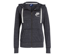 Sweatjacke GYM VINTAGE - anthrazit meliert
