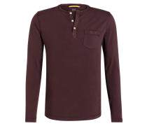 Henley-Shirt - bordeaux