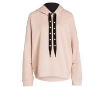 Sweatshirt - hellrosa/ schwarz