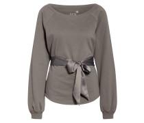 Sweatshirt mit Bindegürtel