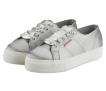 Plateau-Sneaker 2730 aus Satin - silber