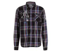 Hemd Regular-Fit - schwarz/ blau/ rot