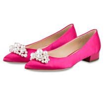 Ballerinas mit Perlenbesatz - pink
