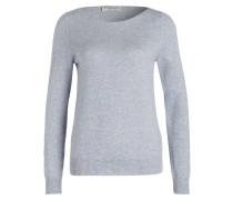 Cashmere-Pullover - hellblau meliert