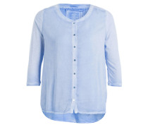 Blusenshirt mit 3/4-Arm - hellblau