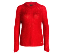 Pullover LEA mit Mohair-Anteil - rot