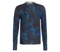 Pullover - navy/ hellblau/ braun