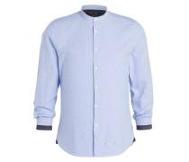 Hemd Shaped-Fit mit Stehkragen - hellblau