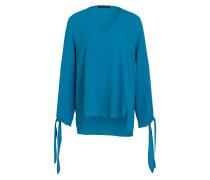 Bluse mit Seidenanteil - blau