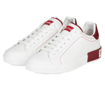 Sneaker PORTOFINO - WEISS/ DUNKELROT