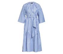 Hemdblusenkleid VERRES mit 3/4-Arm und Leinen