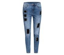 Destroyed Jeans mit Schmucksteinbesatz