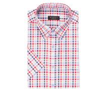 Halbarm-Hemd Comfort-Fit - blau