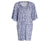 Nachthemd PENELOPE - blau/ weiss
