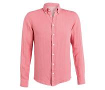 Leinenhemd Slim-Fit - rosa
