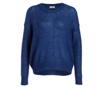 Pullover mit Mohair-Anteil - royal