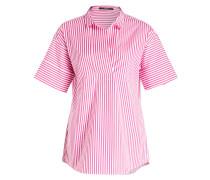 Bluse - pink/ weiss gestreift