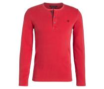 Henley-Shirt - rot