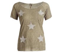 T-Shirt SIRIA - khaki meliert