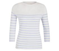 Cashmere-Pullover - creme/hellblau