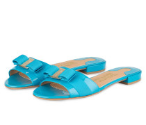 Lack-Sandalen GIL - blau