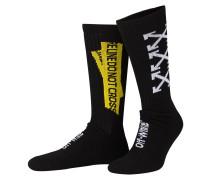 Socken FIRETAPE - schwarz/ gelb/ weiss