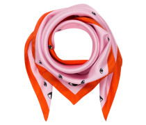 Seidentuch - orangerot/ pink
