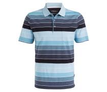 Jersey-Poloshirt - mint/ blaugrau/ weiss