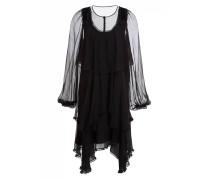 Seidenkleid - schwarz