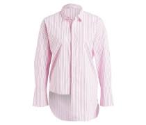 Longbluse AMATI - rosa/ graun gestreift