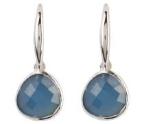 Ohrringe - silber/ blauer chalcedon