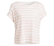T-Shirt - creme/ rosa/ gestreift
