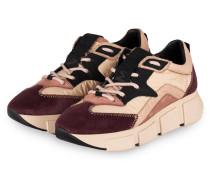 Plateau-Sneaker - CREME/ DUNKELLILA/ ROSÉ
