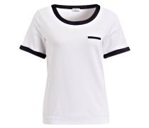 T-Shirt - weiss/ marine