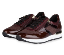 Sneaker - bordeaux/ gold