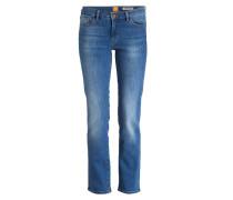 Cropped-Jeans - blau