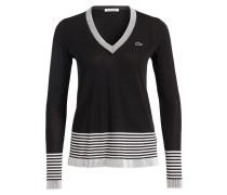 Feinstrick-Pullover - schwarz