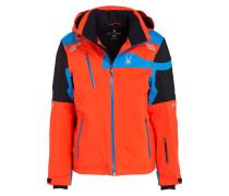 Skijacke TITAN - orange/ blau