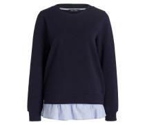 Sweatshirt mit Blusensaum - navy