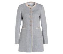 Mantel mit Leinenanteil - blau