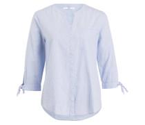 Bluse - hellblau gestreift
