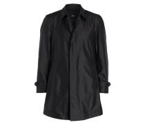 Mantel GARRET2 mit Seidenanteil - schwarz