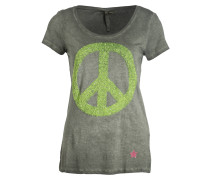T-Shirt PEACE - gelb